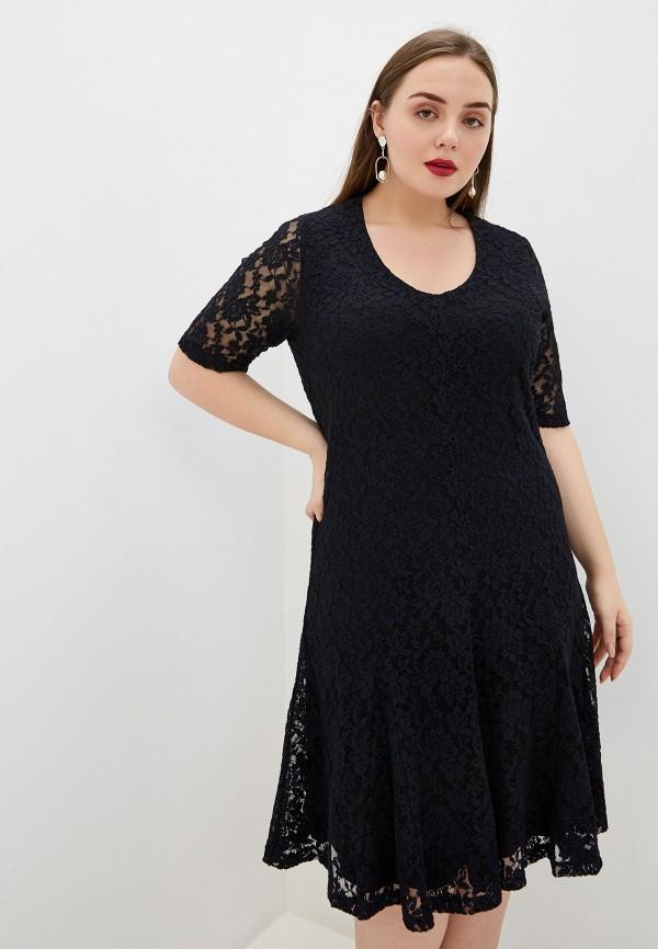 женское вечерние платье samoon by gerry weber, синее