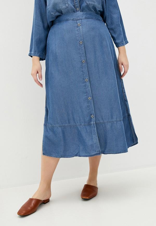 женская джинсовые юбка samoon by gerry weber, голубая