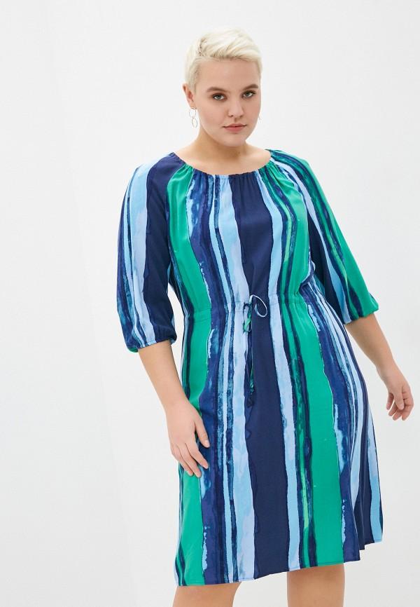 женское повседневные платье samoon by gerry weber, синее