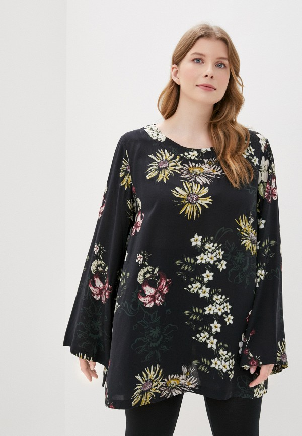 женская блузка samoon by gerry weber, черная