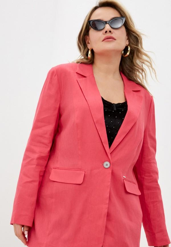 женский пиджак samoon by gerry weber, розовый