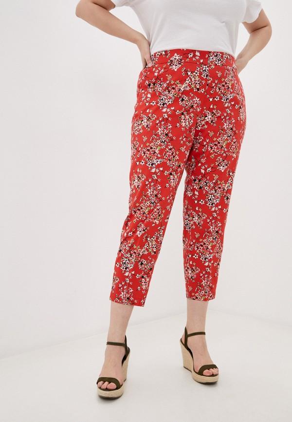 женские прямые брюки samoon by gerry weber, красные