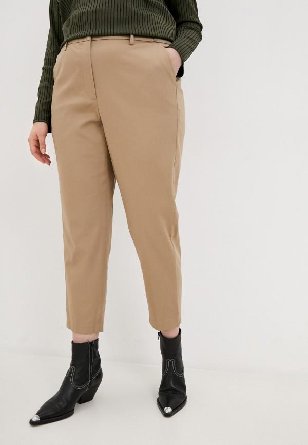 женские зауженные брюки samoon by gerry weber, бежевые