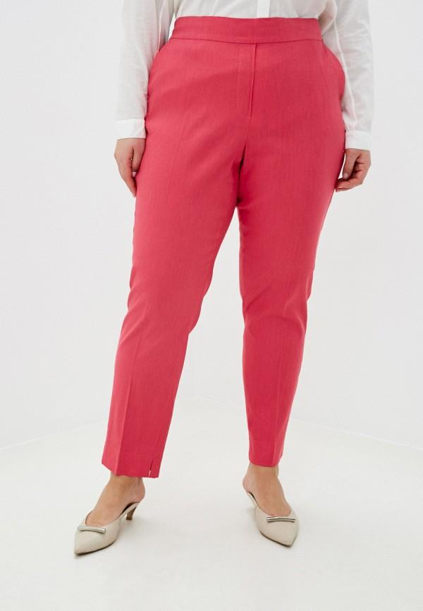 женские прямые брюки samoon by gerry weber, розовые