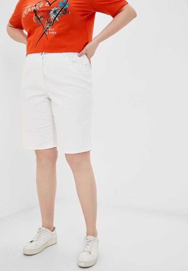 женские повседневные шорты samoon by gerry weber, белые
