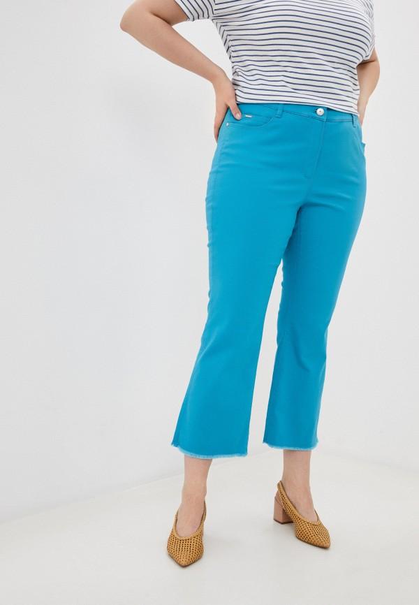 женские прямые брюки samoon by gerry weber, голубые