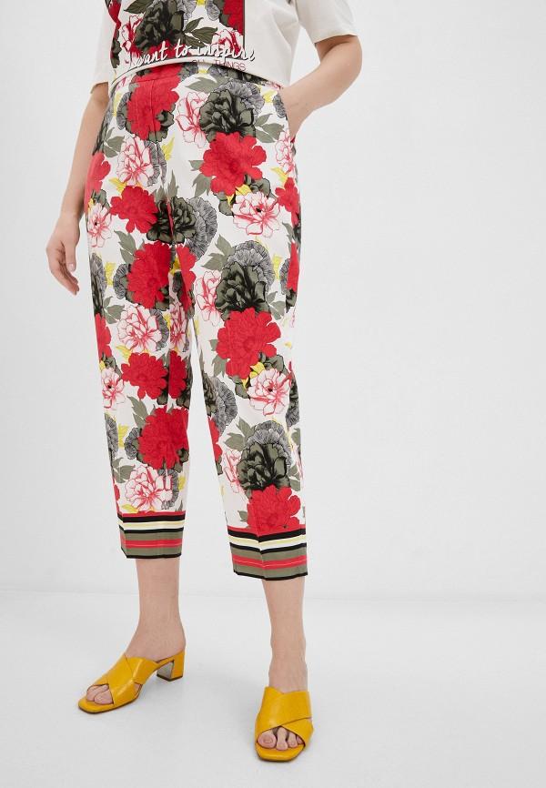 женские прямые брюки samoon by gerry weber, разноцветные
