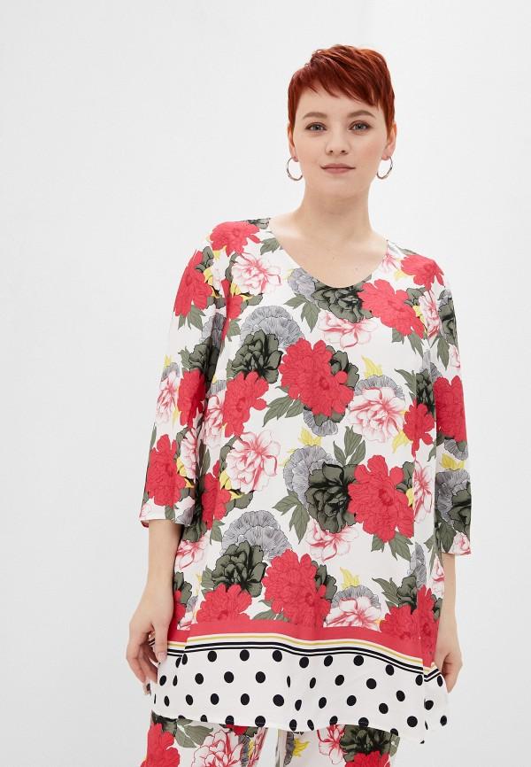 женская блузка samoon by gerry weber, разноцветная