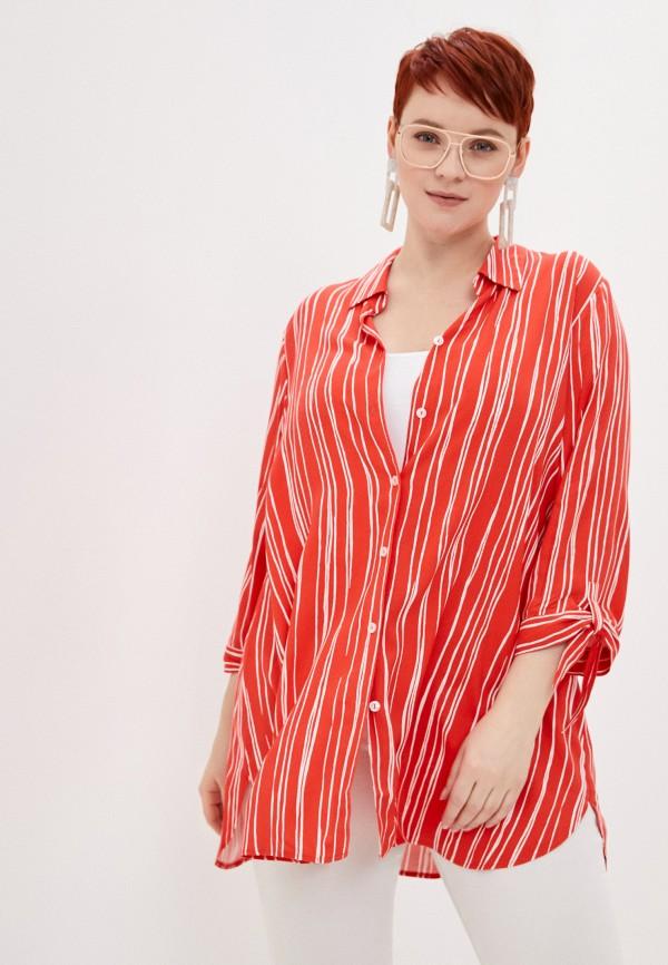 женская блузка samoon by gerry weber, красная