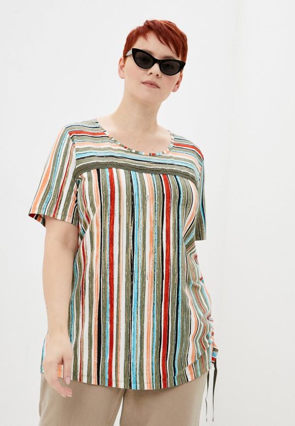 женская футболка samoon by gerry weber, разноцветная