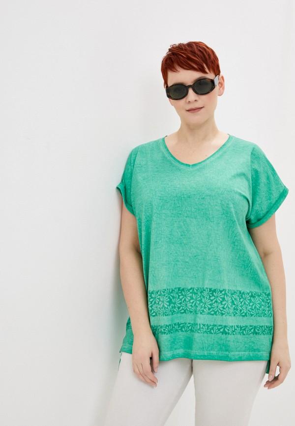 женская футболка samoon by gerry weber, бирюзовая