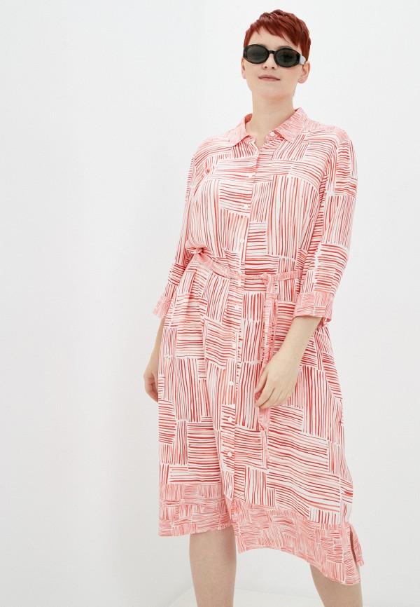 женское платье samoon by gerry weber, розовое