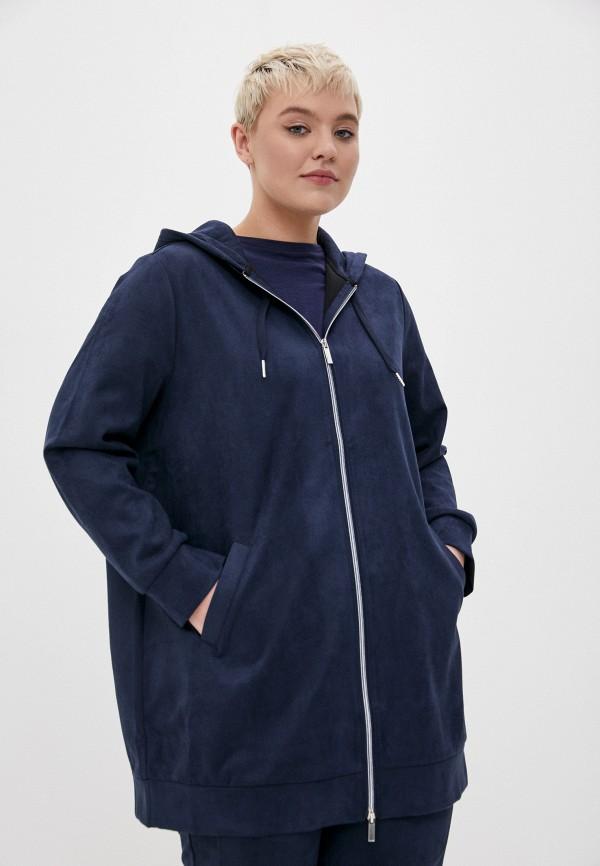 женская толстовка samoon by gerry weber, синяя