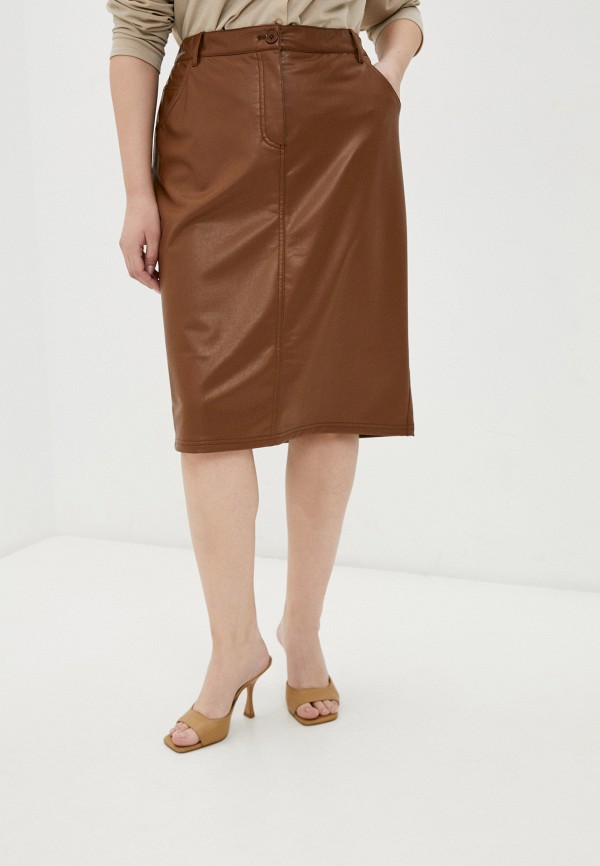 женская юбка samoon by gerry weber, коричневая