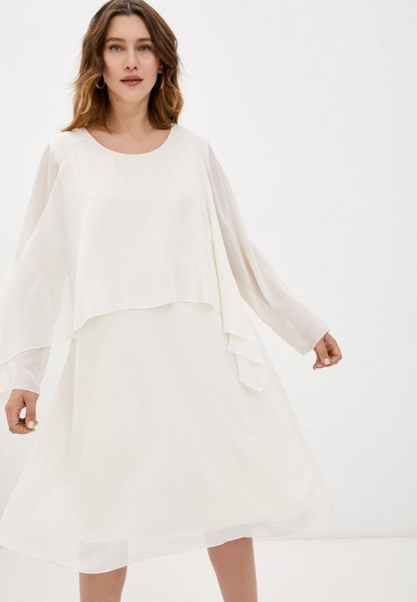 женское вечерние платье samoon by gerry weber, бежевое
