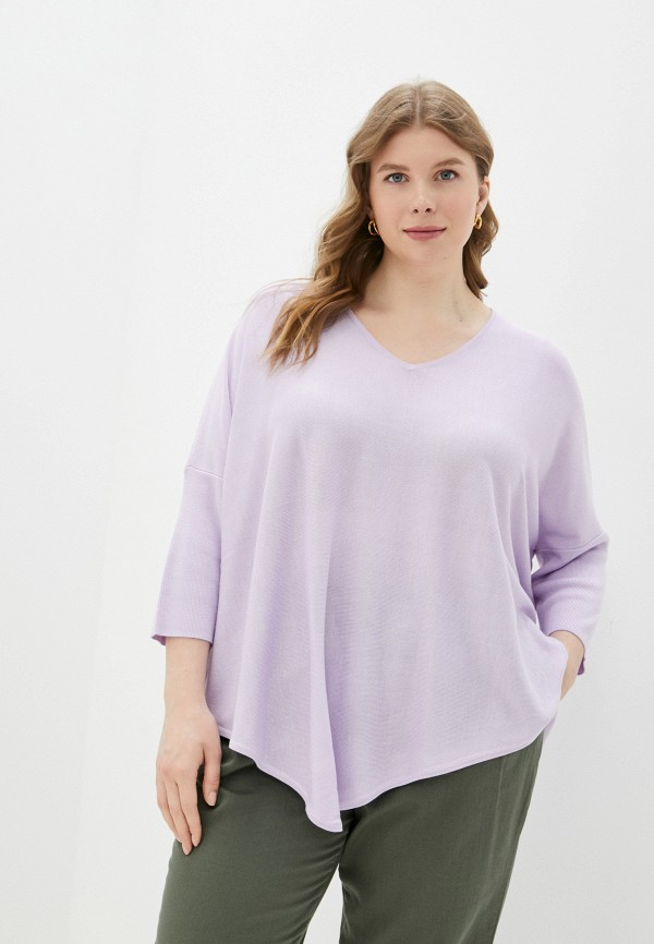 женский пуловер samoon by gerry weber, фиолетовый
