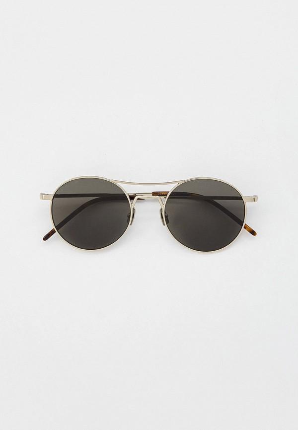 мужские солнцезащитные очки saint laurent, серебряные