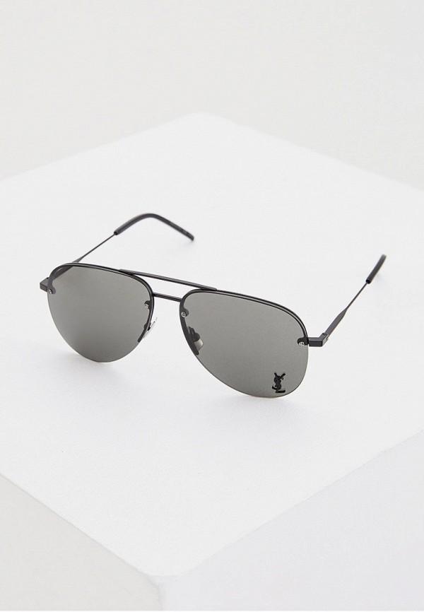 женские солнцезащитные очки saint laurent, черные