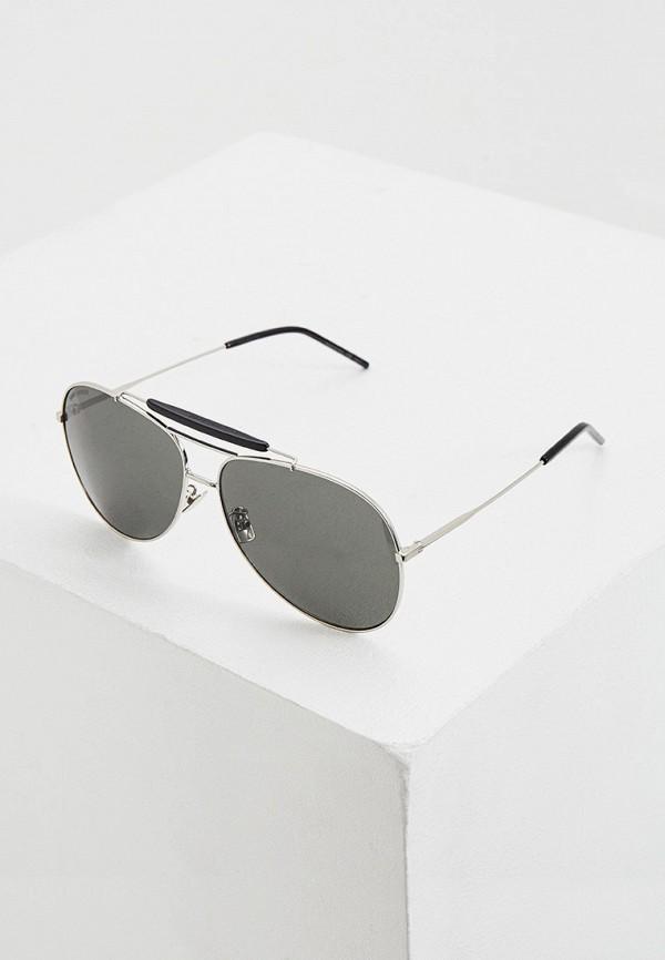 женские солнцезащитные очки saint laurent, серые