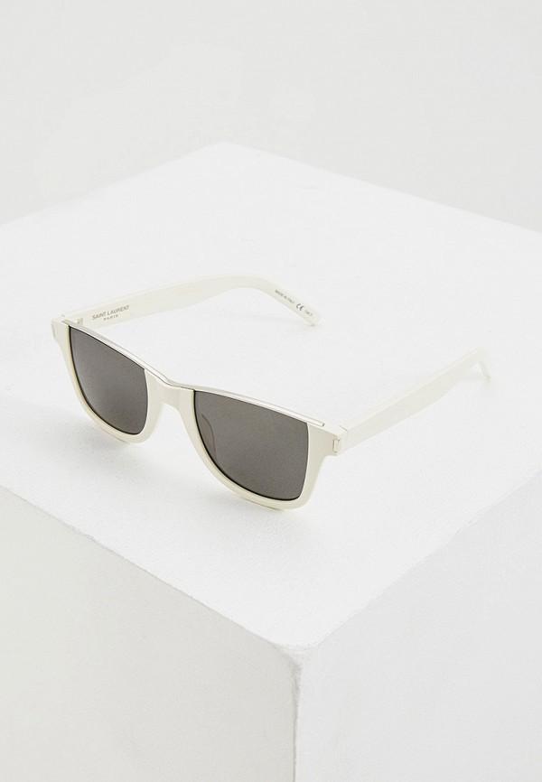 женские солнцезащитные очки saint laurent, белые