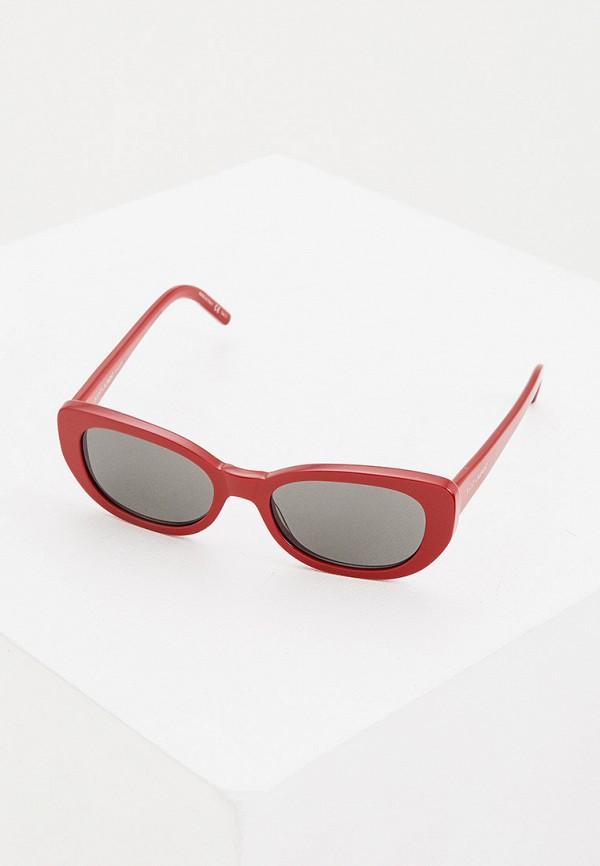 женские солнцезащитные очки saint laurent, красные