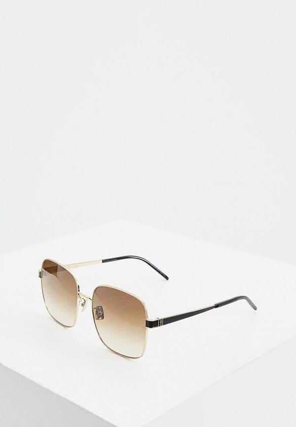 женские солнцезащитные очки saint laurent, золотые