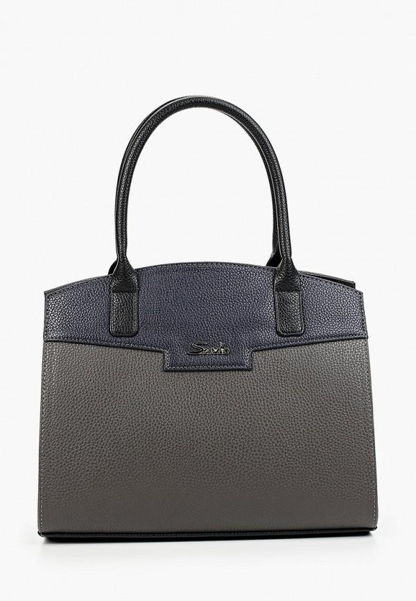 женская сумка savio, серая