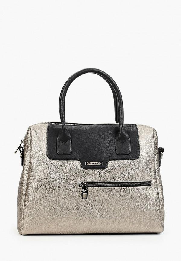 женская сумка savio, серебряная