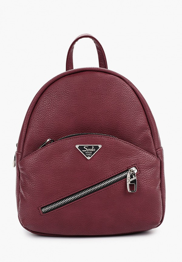 женский рюкзак savio, бордовый