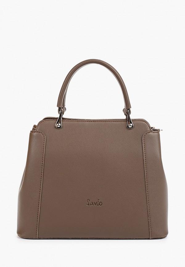 женская сумка savio, коричневая