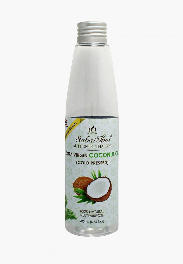 Купить Масло для тела Sabai Thai Authentic SPA, и волос. Кокосовое, холодного отжима. 200мл, sa050lwdvua8, белый, Весна-лето 2019