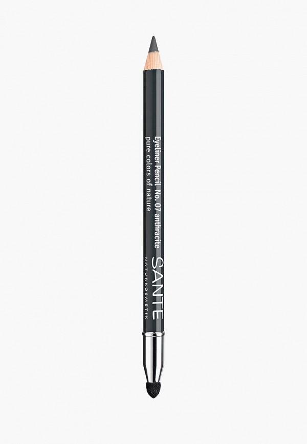 карандаш для глаз sante, серый