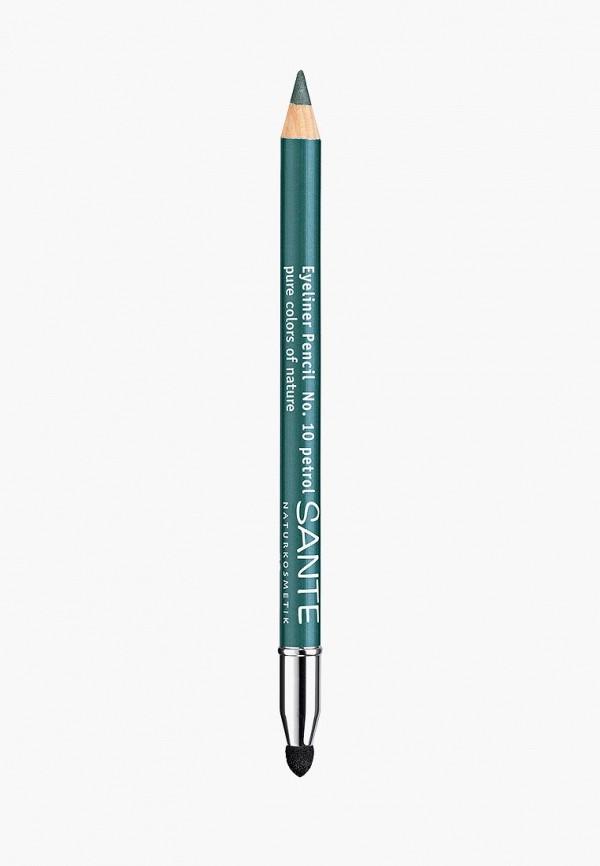 карандаш для глаз sante, зеленый