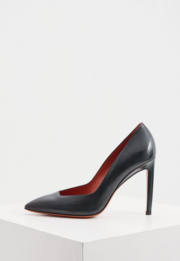 женские туфли santoni, зеленые