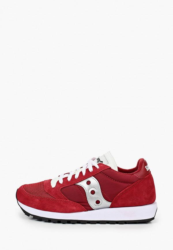 женские низкие кроссовки saucony, красные