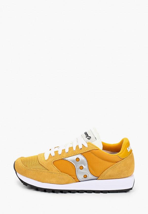 женские низкие кроссовки saucony, желтые