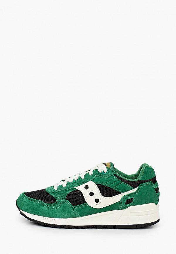 женские низкие кроссовки saucony, зеленые