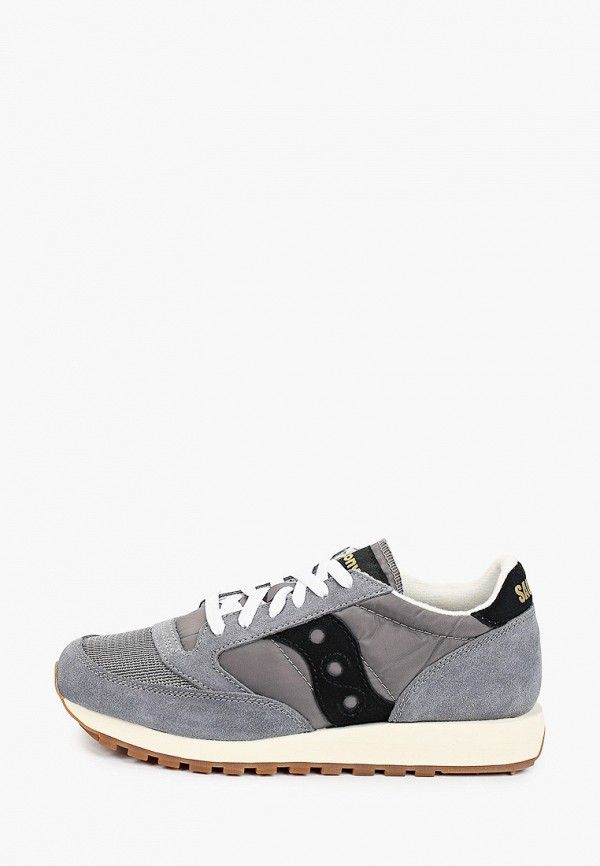 женские низкие кроссовки saucony, серые