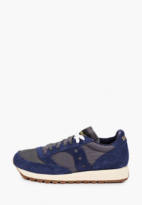женские низкие кроссовки saucony, синие
