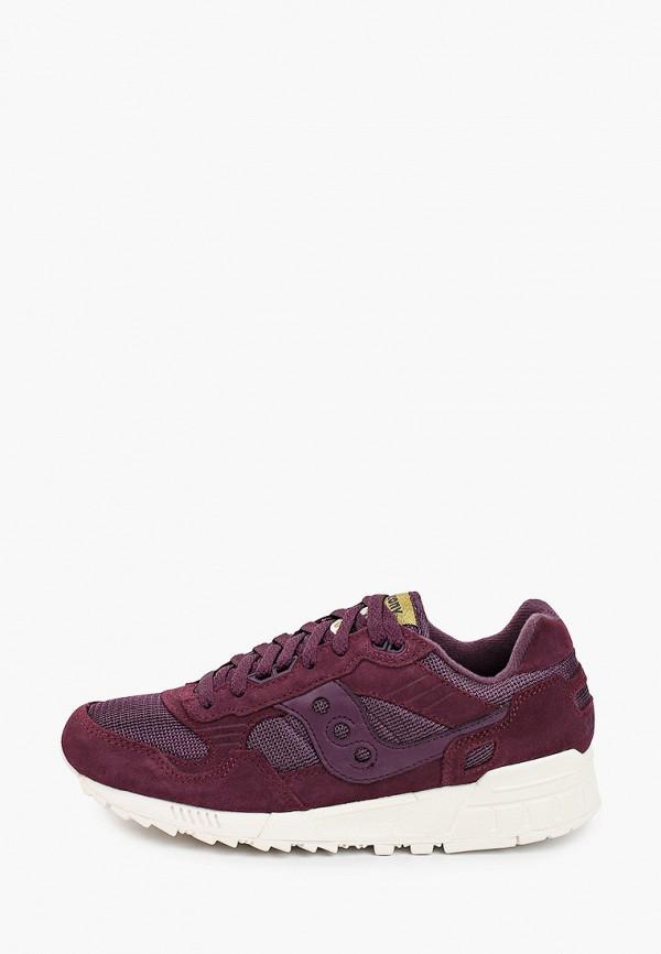 женские низкие кроссовки saucony, фиолетовые
