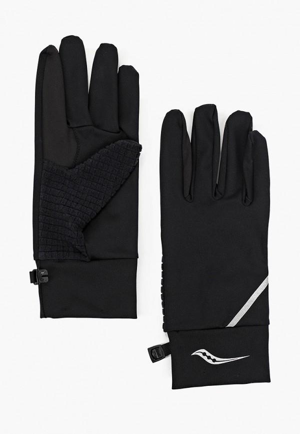 женские перчатки saucony, черные
