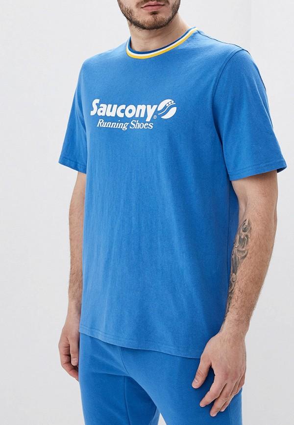 мужская спортивные футболка saucony, синяя