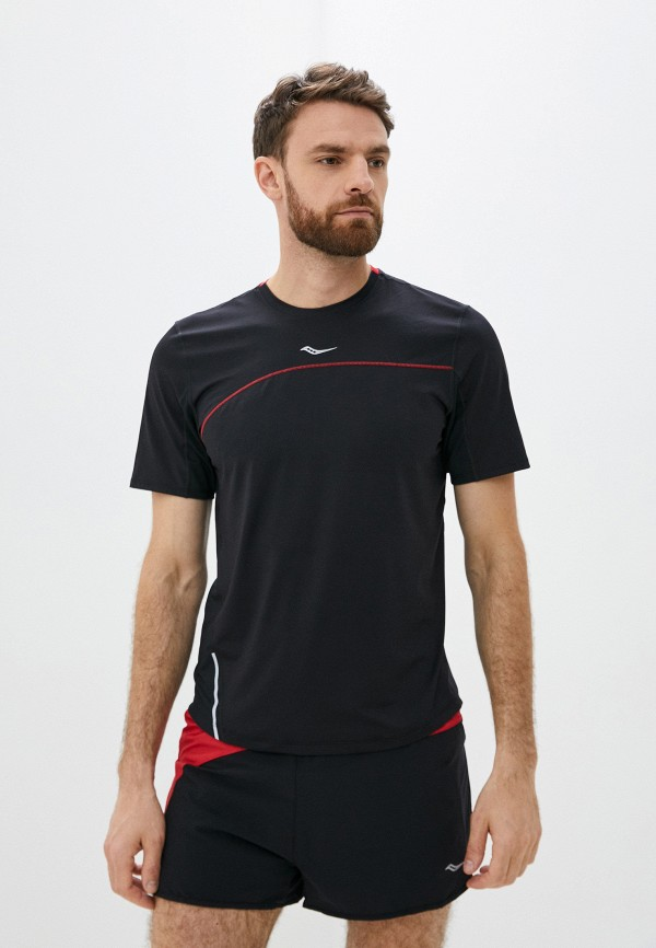 мужская спортивные футболка saucony, черная