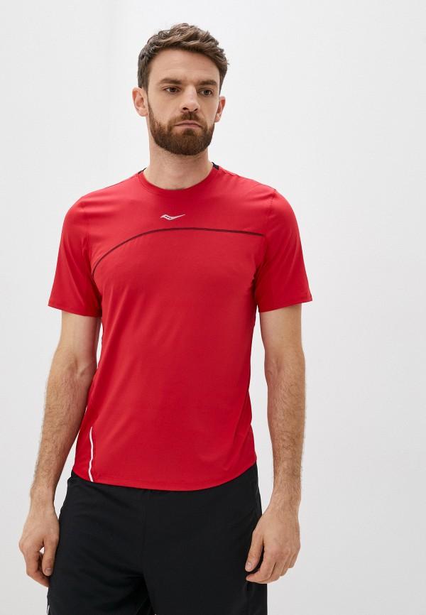 мужская спортивные футболка saucony, красная