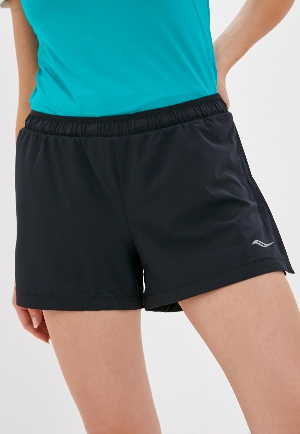 женские спортивные шорты saucony, черные