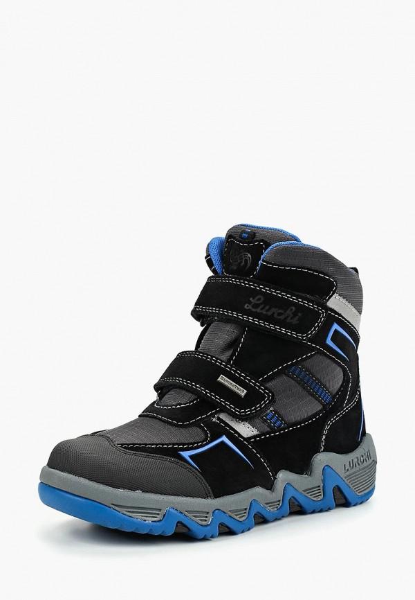 ботинки salamander для мальчика, черные