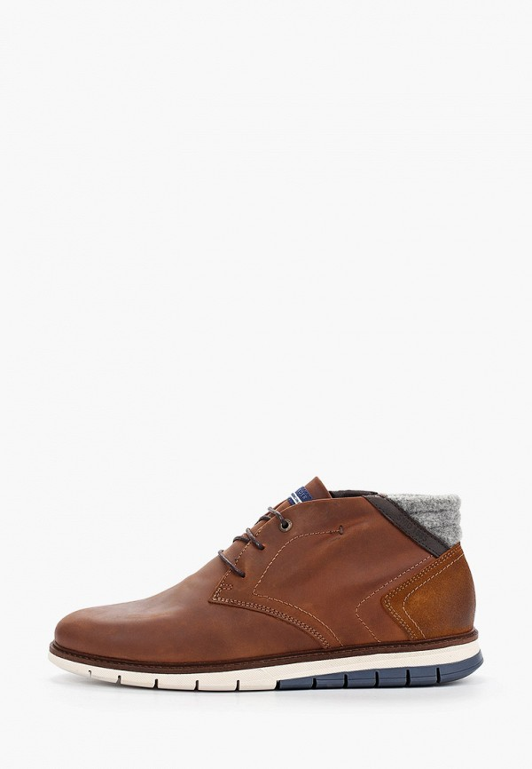 мужские высокие ботинки salamander, коричневые