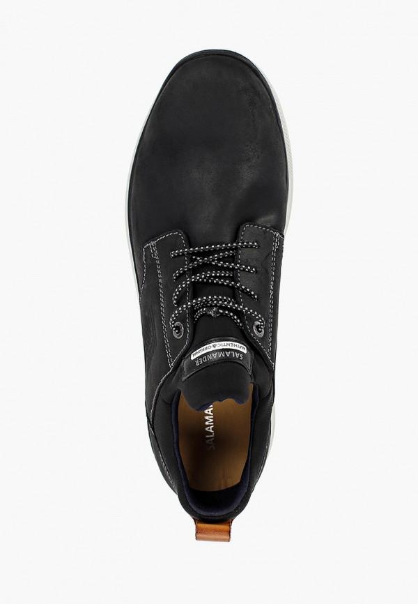Фото 4 - мужские ботинки и полуботинки Salamander черного цвета