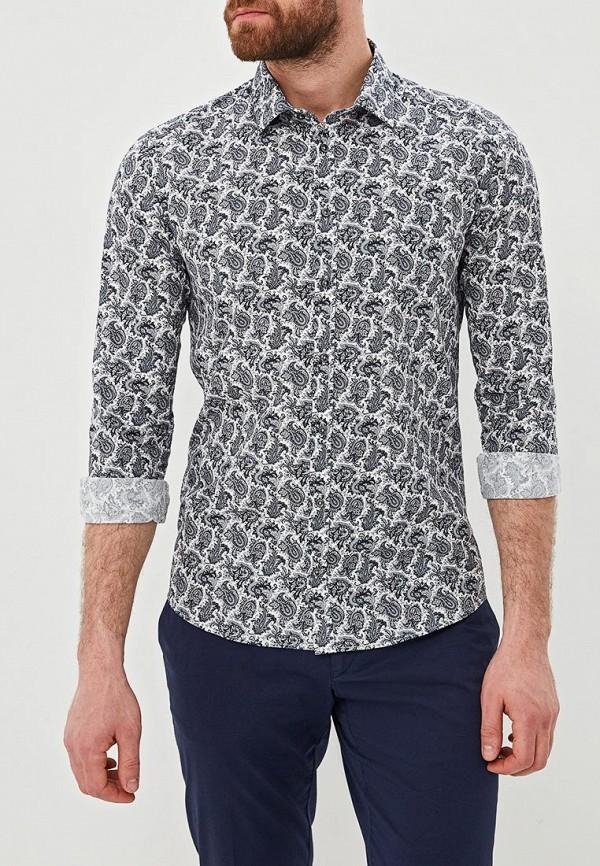 мужская рубашка с длинным рукавом sand, серая