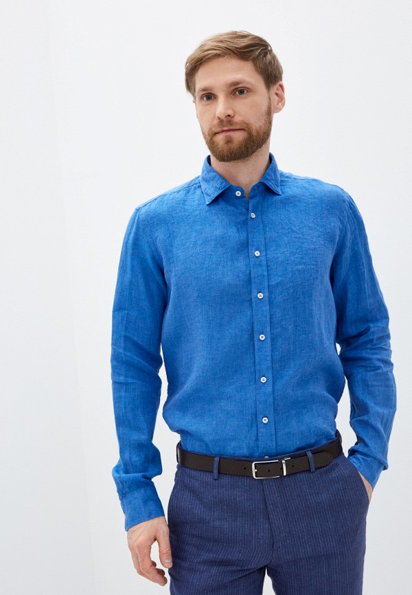 мужская рубашка с длинным рукавом sand, синяя